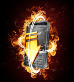 Smartphone with blazing speed — Stock Photo