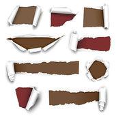Yırtık kağıtları — Stok Vektör