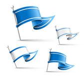 Flag Pin. — Stock Vector