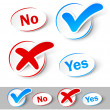 Check mark Yes and No - Imagen vectorial