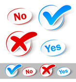 Check mark Yes and No — Vector de stock