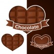 Stock Vector: Chocolate hearts