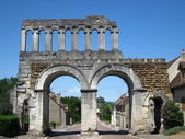 Roman town gate in Autun, France — Stock Photo