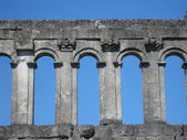 Roman town-gate Porte d'Arroux, Autun, France — Stock Photo