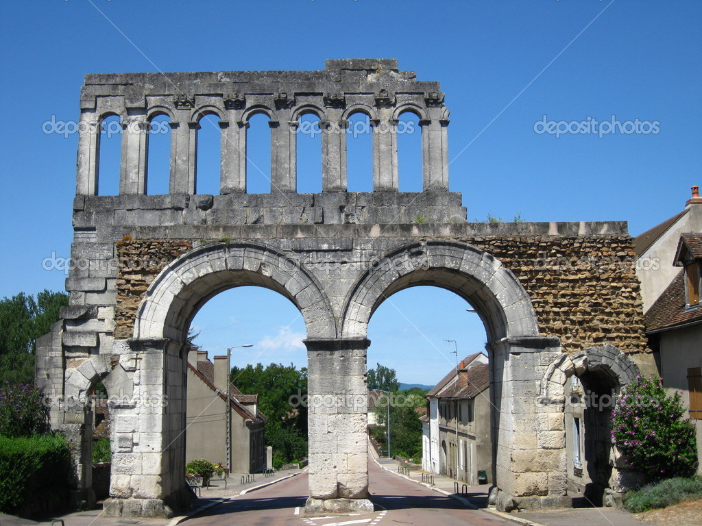Autun France  City new picture : depositphotos 10160937 Roman town gate in Autun France