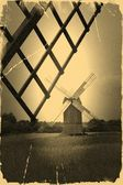 Old vintage windmill — Stock Photo