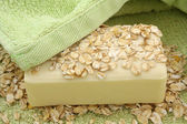 Oatmeal Soap — Stock Photo