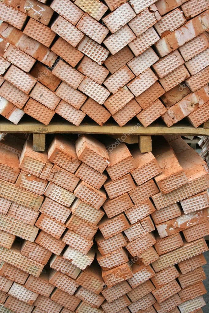 Many red bricks in a stacked  Stock Photo #9044541
