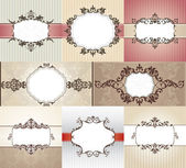 Different vintage frames — Stock Vector
