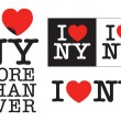 I love NY - Stock Vector