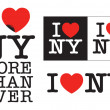 I love NY — Vector de stock
