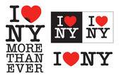 I love NY — Stock Vector