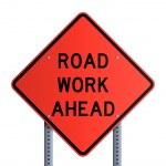 Panneau - Road work ahead — Stock Vector #10161897