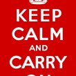 Stockvektor : Keep calm and carry on