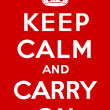 Keep calm and carry on - Stock Vector