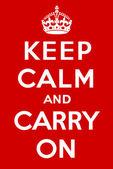 Sakin ol ve devam et — Stok Vektör