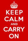 Keep calm and carry on — Stock Vector