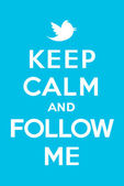 Keep calm and follow me — Stockvector