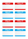 Stickers - Hello my name is — Stock Vector