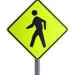 Crosswalk roadsign — Stock Vector #10498765
