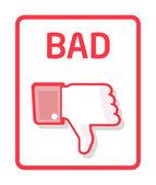 Thumb bad — Stock Vector