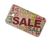 Cardboard sale label — Stock Photo