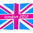 UK flag London 2012 — Stock Vector