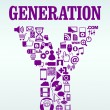 Generation Y - Stock Vector