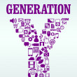 Generation Y — Stock Vector