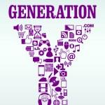 Generation Y — Stock Vector