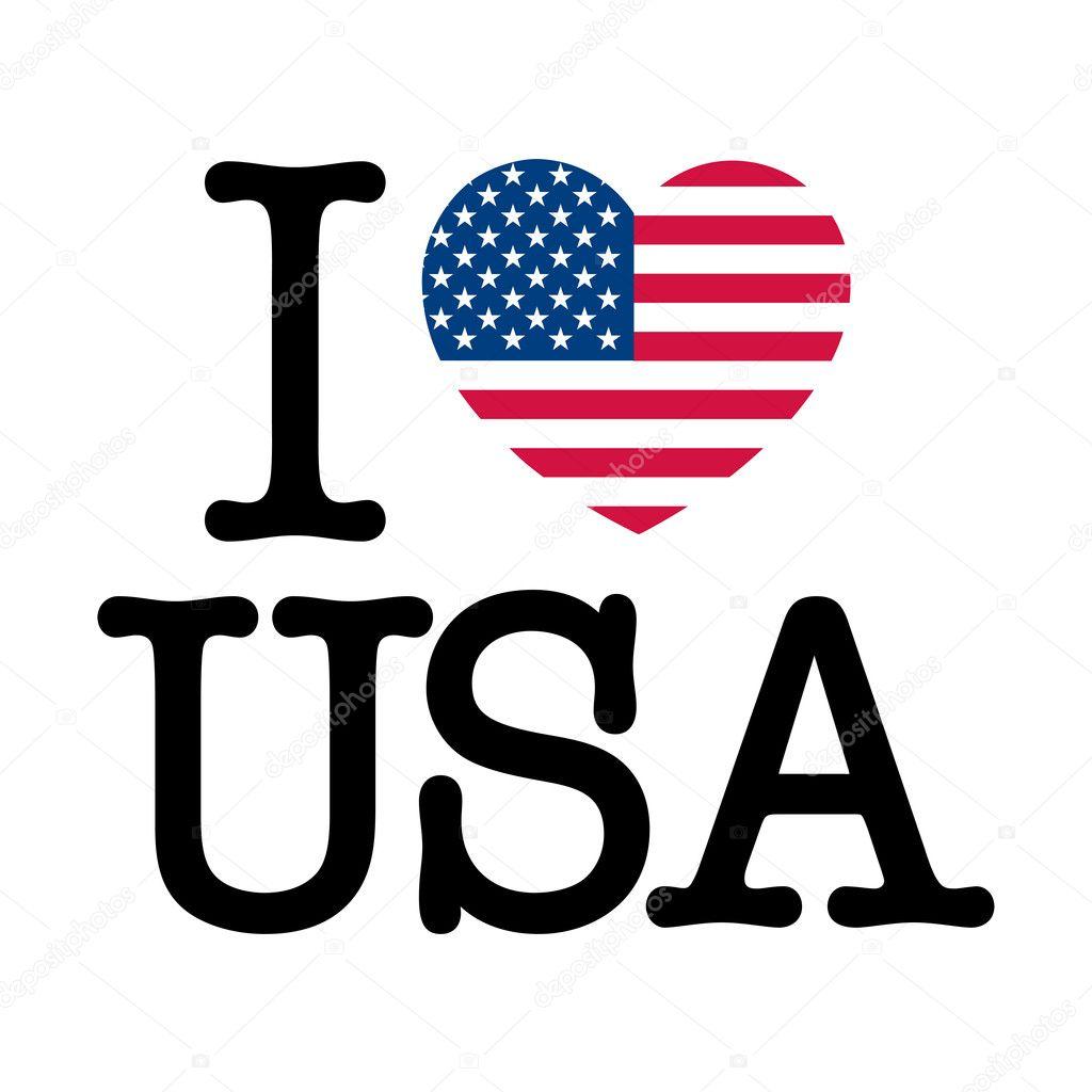 I Love Usa Stock Vector 169 Thomaspajot 9341200