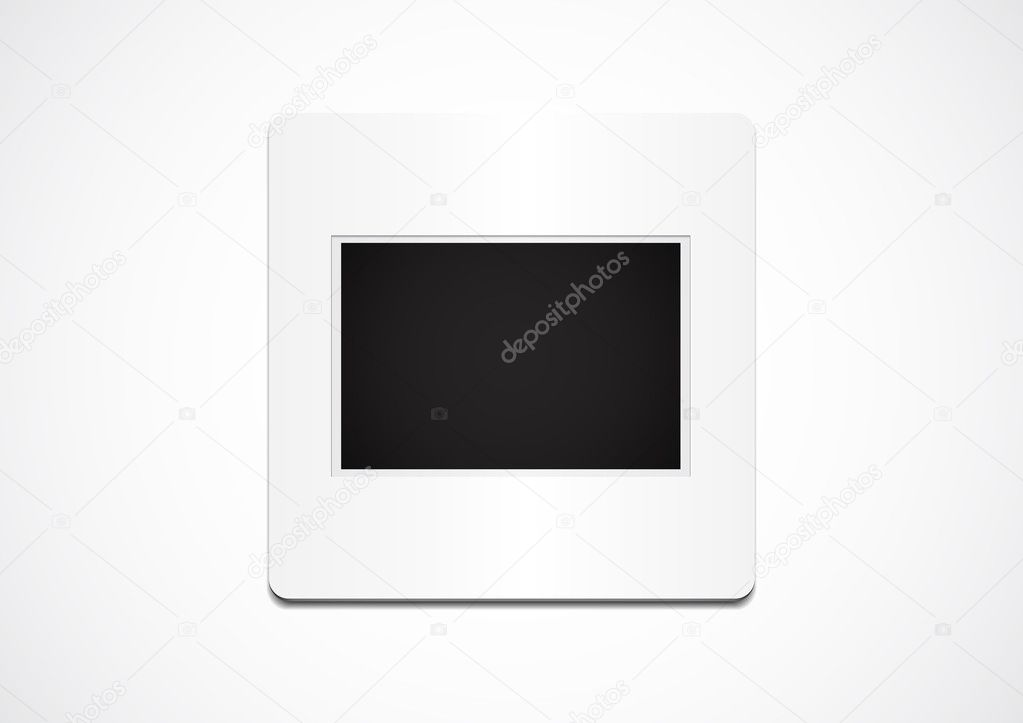 Illustration of a isolated blank slide — Stock Vector #9447841