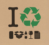 I Recycle cardboard — Stock Photo