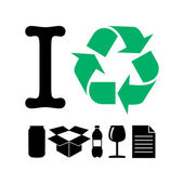 I recycle — Stock Vector