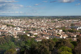 Aerial view of the city of nimes in France — Stock Photo