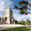 Stock Photo: Tour Magne monument in Nimes