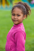 Portrait of a Adorable little African Asian girl — Stock Photo