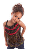 Adorable little African Asian girl isolated on white background — Stock Photo