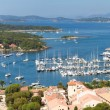 Panoramic view of Porquerolles island in France - Stock Photo