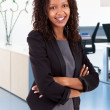 Smiling african american business woman — Stock Photo
