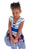 Portrait of a cute little african american girl — Stock Photo
