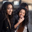 Portrait of happy young african american teenage girls — Stock Photo #9978121