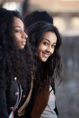 Portrait of happy young african american teenage girls — Stock Photo