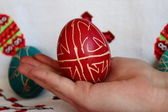 Pysanka (Ukrainian Easter egg) — Stock Photo