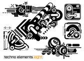 Techno elements EIGHT — Stock Vector
