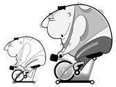 Bike simulator workout — Stock Vector