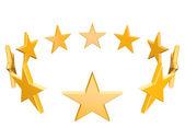 Golden stars — Stock Photo