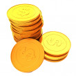 Coins isolated — Stock Photo