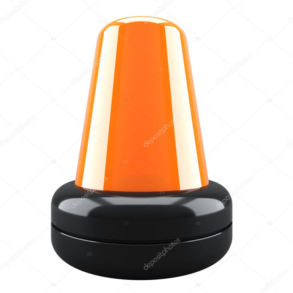 Orange flashing light. 3d render illustration — Stock Photo #8502918
