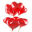 Balloons as red hearts — Stock Photo